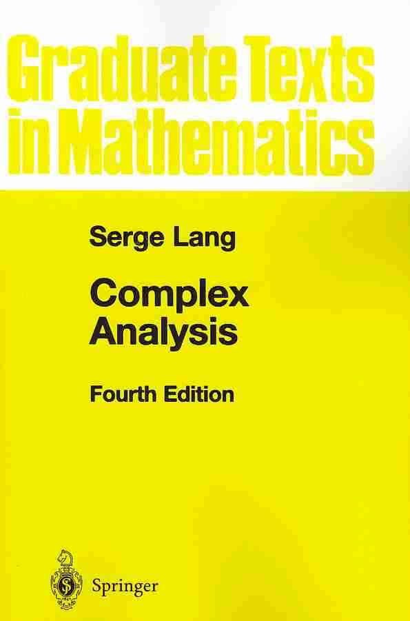 Complex Analysis By Lang, Serge (EDT)